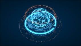Futuristic HUD Interface Element, UI. Depth Of Field. Data Scien. Ce Look Stock Photo