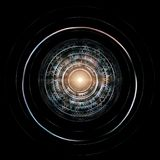 Futuristic HUD Isolated On Black Background. Alien Technology Co. Ncept Royalty Free Stock Photography
