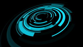 Futuristic HUD motion backgrounds stock video footage