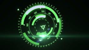 Futuristic HUD Target UX UI Interface. stock video footage