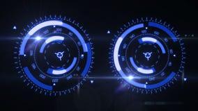Futuristic HUD Target UX UI Interface. stock video