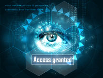 Futuristic human eye Royalty Free Stock Images