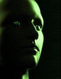 futuristic huvud för cyborg Fotografering för Bildbyråer