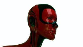 futuristic huvud isolerat robotic Royaltyfri Bild