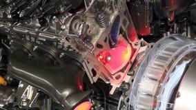 Futuristic hybrid car engine stock video footage