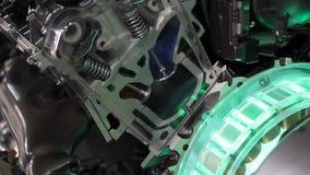Futuristic hybrid engine work stock footage