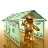 Futuristic icon about home and property Stock Images