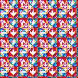 Futuristic illusive abstract geometric seamless pattern Royalty Free Stock Photography