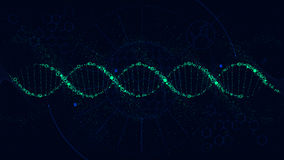 Futuristic illustration of the structure of DNA, Sci-Fi interface, vector background stock illustration