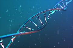 Futuristic image of DNA. Scientific research. stock illustration