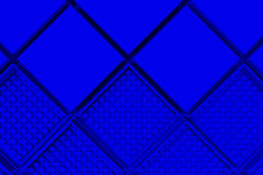 Futuristic industrial background made from blue square shapes Royalty Free Stock Photography