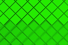 Futuristic industrial background made from green square shapes Royalty Free Stock Images