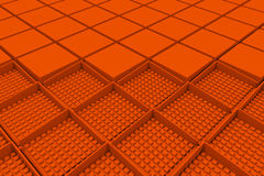 Futuristic industrial background made from orange square shapes Royalty Free Stock Images