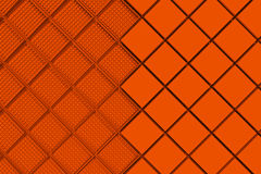 Futuristic industrial background made from orange square shapes Stock Photography
