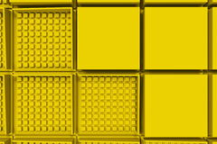 Futuristic industrial background made from yellow square shapes Royalty Free Stock Image