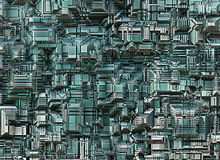 Futuristic industrial city abstract backgrounds Stock Photography
