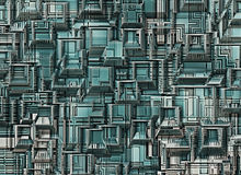 Futuristic industrial city abstract backgrounds Royalty Free Stock Photography