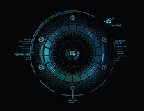 Futuristic infographics as head-up display Royalty Free Stock Image