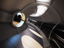 futuristic inre modernt Royaltyfri Foto