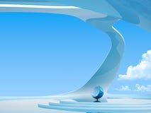 futuristic inre serie för copyspace Royaltyfri Fotografi