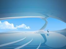 futuristic inre serie för copyspace Fotografering för Bildbyråer