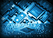 Futuristic integrated circuit Stock Image