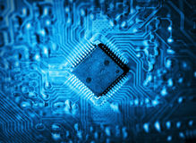 Futuristic integrated circuit Royalty Free Stock Photos