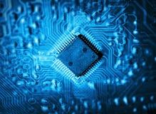 Futuristic integrated circuit Royalty Free Stock Photos