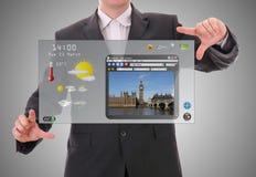 Futuristic interface Stock Photo
