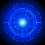 Futuristic interface circle Stock Image