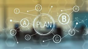 Concept of plan b Stock Images