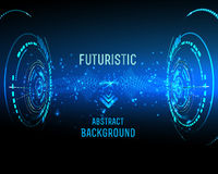 Futuristic interface, HUD,   background Royalty Free Stock Photos