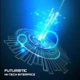 Futuristic interface, HUD,   background Stock Images