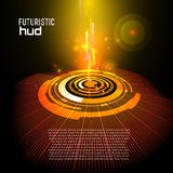 Futuristic interface, HUD,   background Royalty Free Stock Images