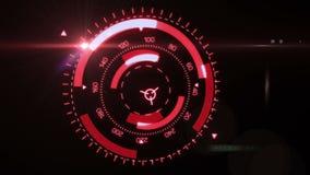 Futuristic interface hud design stock video footage