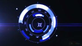 Futuristic interface hud design stock video