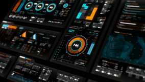Futuristic interface   HUD   Digital screen stock footage