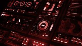 Futuristic interface | HUD | Digital screen stock video