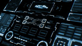 Futuristic interface | HUD | Digital screen stock footage