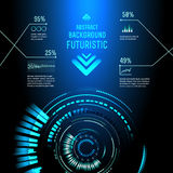 Futuristic interface, HUD,  imfographics , Royalty Free Stock Photo