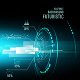 Futuristic interface, HUD,  imfographics , Royalty Free Stock Photography