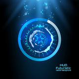 Futuristic interface, HUD, technology background, sci-fi vector Royalty Free Stock Photography
