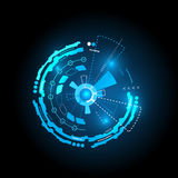 Futuristic interface, HUD,  vector background Stock Photography
