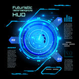 Futuristic interface infographics, HUD,  vector background Stock Photos