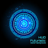 Futuristic interface infographics, HUD,  vector background Royalty Free Stock Image