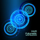 Futuristic interface infographics, HUD,  vector background Royalty Free Stock Photo