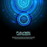 Futuristic interface infographics, HUD,  vector background Royalty Free Stock Images
