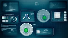 Futuristic interface loop stock footage