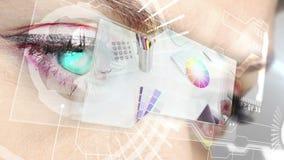 Futuristic interface showing graphic design stock video