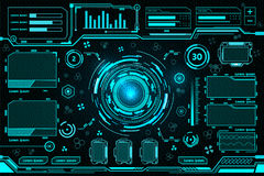 Futuristic interface technology. Design 2017 Royalty Free Stock Images
